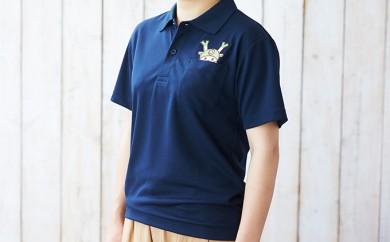 [№5674-0297]ポケットから、ふっかちゃんがのぞくポロシャツ 紺