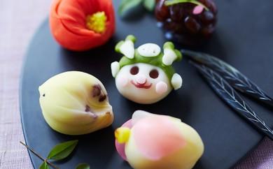 [№5674-0294]ふっかちゃんの練り切り入り上生菓子