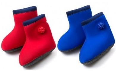 D29017 世界初のブーツ型!クロッツやわらか湯たんぽ/足用タイプ底あり・通
