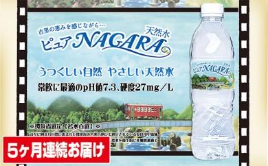 [№5533-0013]岐阜長良川天然水【NAGARA】5ケ月連続届(海津)