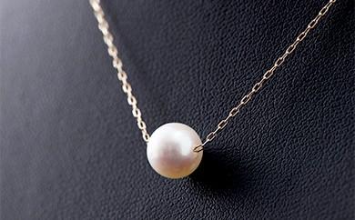G0-03 【シンプルな1珠!】アコヤ真珠7mmペンダントネックレス