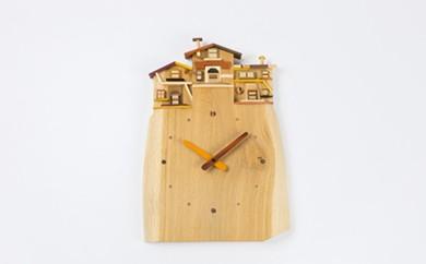 【D-004】工房 外山の天然木掛け時計