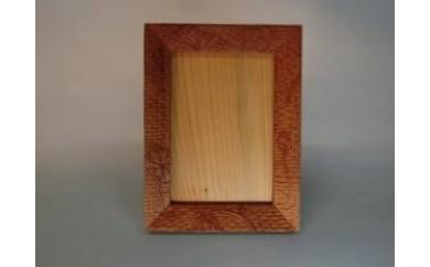 木彫刻 仏壇用写真立(蓮・桜の2柄より選択)