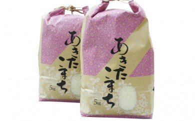 [№5732-0137]秋田三種町産 ひろ子のあきたこまち5kg×2
