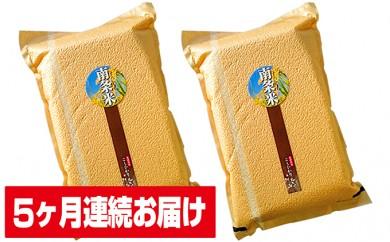 [№5892-0079]5ヶ月連続 南条米コシヒカリ 真空パック精米5kg×2袋