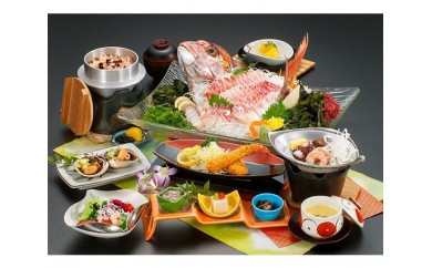 No.072 活魚の美舟 平日限定 入浴付活魚料理お食事券