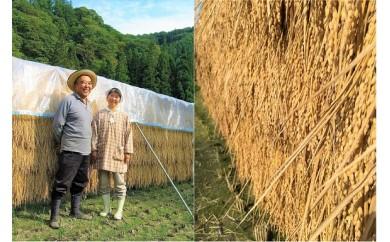 306*信州小川村自慢のはぜかけ米と季節の漬物セット