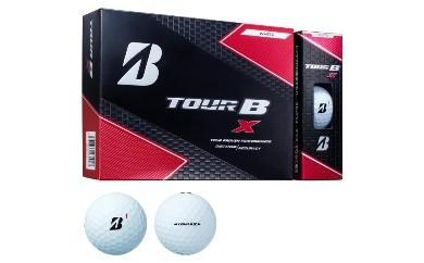 ゴルフボール ブリヂストン TOUR B X Bマーク(ホワイト)3ダース36球セット