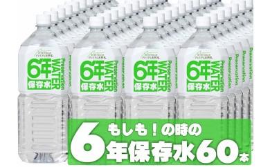 040-004 非常用飲料水 プレミアム6年保存水(2L×6本×10箱)