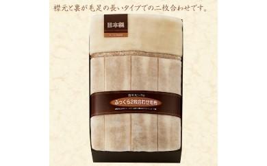 西川リビング襟裏ファータイプ2枚合せアクリル毛布(毛羽部分)