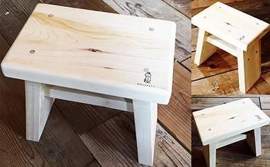 青森ヒバのお風呂の椅子