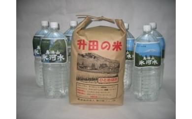 NA243 平成29年産 升田の米ひとめぼれ5kgと鳥海山氷河水