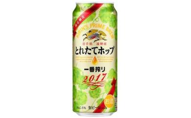 【遠野産ホップ】一番搾りとれたてホップ生ビール2017 500ml×24