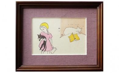 [№5735-0154]夢二の猫木版画(二柄)