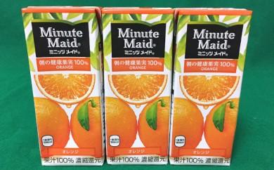 [№5745-0595]明治 ミニッツメイドオレンジ100% 200ml 24本