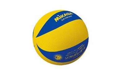 ミカサ ソフトバレーボール(色 黄/青)