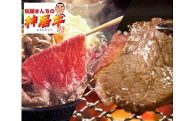 No.031 佐藤さんちの神居牛 上質赤身肉コース800g(スライス400g&焼肉用400g)【福永産業】