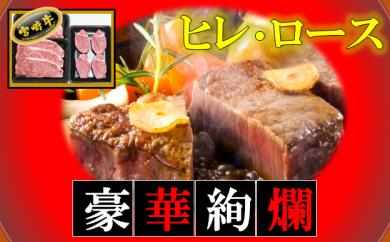6-13ミヤチク宮崎牛ヒレ4枚ロースステーキ6枚セット