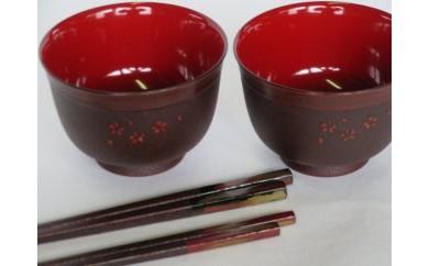CN39 高知県伝統漆器「土佐古代塗」汁椀・箸セットプレミアム【2500pt】