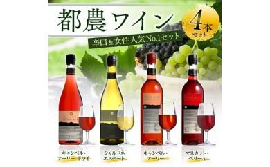 AB10 都農ワイン4本セット(キャンベル・アーリー、マスカット・ベリーA、キャンベル・アーリードライ、シャルドネ エステート)