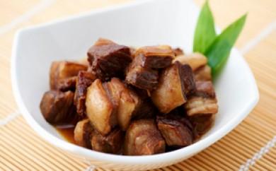 [№5742-0331]北見エゾシカ 熟成アバラ角煮肉 約580g