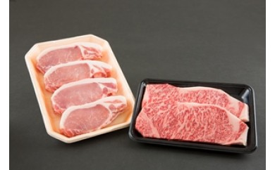 NE3 山形牛・米の娘ぶた 贅沢ステーキセット