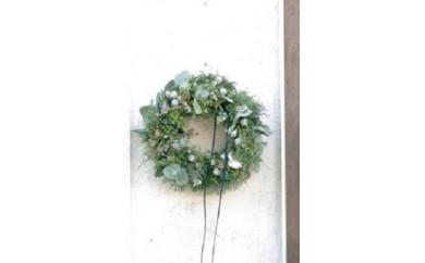 [№5702-0102]クリスマスリース小<シルバー系>※クレジット決済限定※