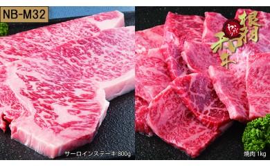 【NB-M32】根羽こだわり和牛セット(サーロイン800g、焼肉1kg)