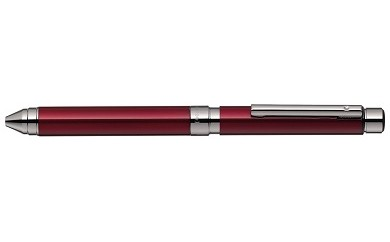 【AF-21】シャーボX TS10とジェルJSB0.5芯(3色)のセット 本体:ボルドー(ガンメタルコーティング)/芯:ブラック、ロイヤルブルー、カーマインレッド(ゼブラ)