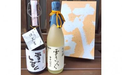 [№5892-0108]清酒 雪のしずく・雪きらら 大吟醸2本セット