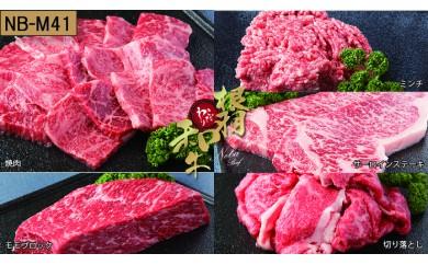【NB-M41】根羽こだわり和牛セット(サーロイン1kg、モモブロック600g、ミンチ600g、切り落とし800g、焼肉700g)