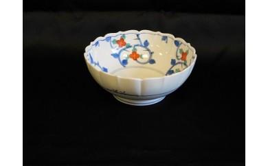 H308花唐草菓子鉢(翠山窯)
