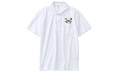 [№5674-7009]0298ポケットから、ふっかちゃんがのぞくポロシャツ白 M