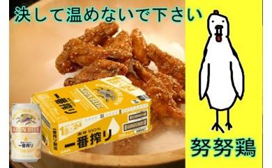 B-041 キリン一番搾り1ケース24缶&冷やして食べる唐揚げ3箱