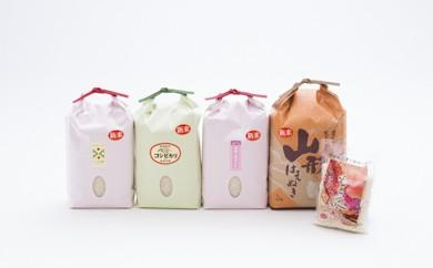 B2905-01 新庄産米食べ比べ4種おまけ付き