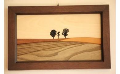 [020-09]貴妃花 木製品「親子の木」