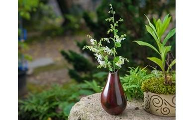 [C308]斑紫銅花器 しずく
