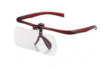 No.016 跳ね上げ式双眼眼鏡ルーペ ブラウン