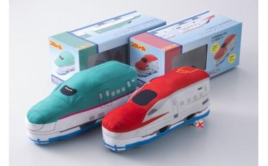 A032 プラレール 箱入り 新幹線 洗えるミニ抱き枕 2個セット