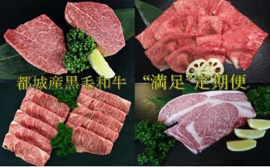 """T80(10)-4201_都城産黒毛和牛""""満足""""定期便(10ヶ月間)"""