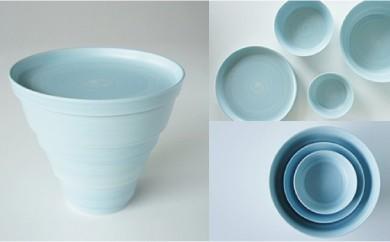 【有田焼 CONIC FLOWER シリーズ】CONIC(紫陽花ブルー) 4個組1セット