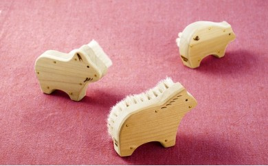 [№5630-0300]「すみだモダン」宇野刷毛ブラシ製作所 アニマルブラシ 女性用セット(身体・顔・爪)