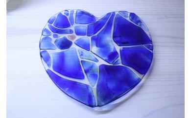 <沖縄ガラスウエディング皿体験コース・2名様>愛の形ハートのウエディング皿製作体験