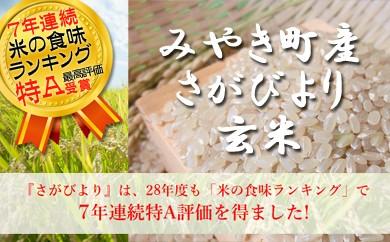J88 みやき町産『さがびより(玄米)』特A受賞【毎月20kg】