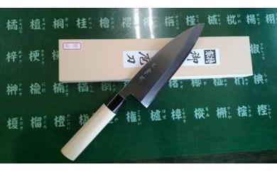 岐阜県の伝統関の刃物『七宗町』モデル(出刃165mm)カスミ研ぎ