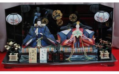 X-37 正絹大島紬親王飾り・唐草
