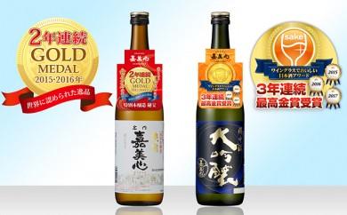 [№5707-0202]コンクール金賞の日本酒 大ヒット!「備中流大吟醸」と「秘宝」金賞受賞の飲み比べセット