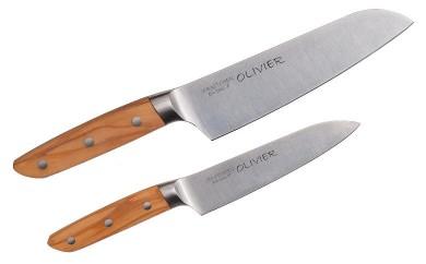 H15-10 バイアキッチン オリーブハンドル包丁2点セット