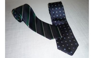 横浜 シルク製ネクタイ2本セット