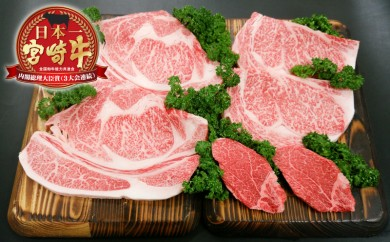 MM-0101_総重量1,200g!都城産宮崎牛ステーキ食べ比べセット